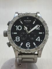 クォーツ腕時計/アナログ/ステンレス/BLK/SLV/THE51-30
