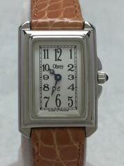 Obrey/クォーツ腕時計/アナログ/WHT/BRW/8040