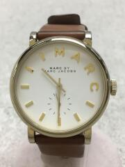 Baker/クォーツ腕時計/アナログ/レザー/ホワイト/ブラウン/MBM1316
