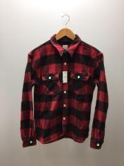 チェックシャツ/38/コットン/RED/チェック