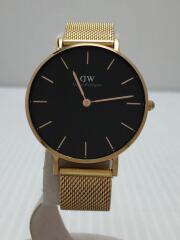 Classic/クォーツ腕時計/アナログ/ステンレス/BLK/GLD/DW00100161