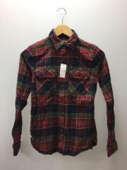 チェックシャツ/150/コットン/RED/チェック
