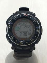 CASIO カシオ/ソーラー腕時計/デジタル/ラバー/GRY/BLK/PRW-2500/セカスト