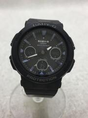 CASIO カシオ/ソーラー腕時計/デジアナ/ラバー/BLK/BLK/BGA-2500/セカスト/中古