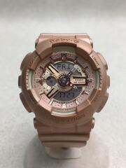 クォーツ腕時計・Baby-G/デジアナ/ラバー/PNK/BA-111/セカスト/中古