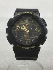 CASIO/クォーツ腕時計・G-SHOCK/デジアナ/BLK/GA-100CF