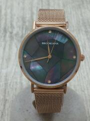 brookiana/ブルッキアーナ/クォーツ腕時計/アナログ/BA3101/ブルー/ゴールド/青/金