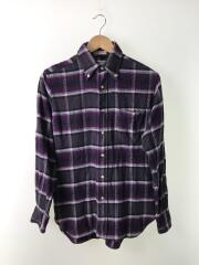 インディビジュアライズドシャツ/ネルシャツ/14.5/コットン/パープル/紫/チェック