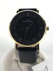 ザクロックハウス/ソーラー腕時計/LCA1002-BK1B/アナログ/レザー/ブラック/黒