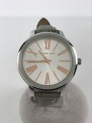 マイケルコース/MK-2479/クォーツ腕時計/アナログ/レザー/ホワイト/白