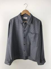 ryo takashima/リョータカシマ/長袖シャツ/10190006/M/ウール/ブルー/千鳥格子