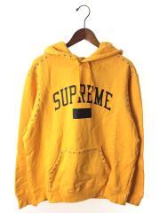 シュプリーム/18AW/Studded Hooded Sweatshirts/パーカー/M/コットン/オレンジ