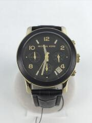 マイケルコース/MK-5238/クォーツ腕時計/アナログ/レザー/ブラウン/茶