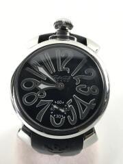 手巻腕時計/アナログ/ラバー/BLK/BLK