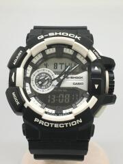 カシオ/ga-400/G-SHOCK/クォーツ腕時計/デジアナ/ラバー/ホワイト/ブラック
