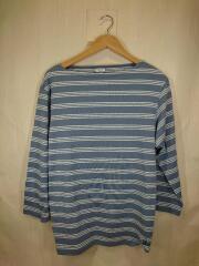 19SS/長袖Tシャツ/19S-NW-001/4/コットン/BLU/ボーダー