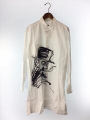 19SS/デッサンビッグシャツ/NH-B15-032/3/コットン/WHT/長袖ロングシャツ