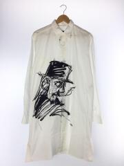 19SS/デッサンビッグシャツ/NH-B15-032-1A/3/コットン/WHT/ロングシャツ