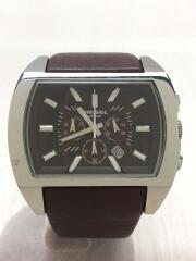 クォーツ腕時計/アナログ/レザー/ブラウン/ブラウン/DZ-4138C