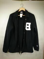 スウェットコーチジャケット/M/コットン/ブラック/C8-G605
