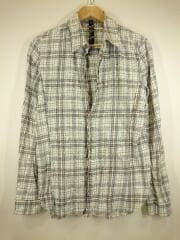 Hook check shirts/ホックチェックシャツ/長袖シャツ/L/コットン/ブルー/チェック