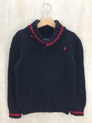 セーター/サイズ110~120/コットン/NVY/無地