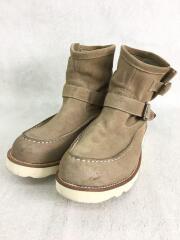 ブーツ/40/BEG/モカシンブーツ/10523/32