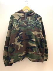 スウェット/--/ポリエステル/KHK/カモフラ/polartec half zip hood sweatshirt