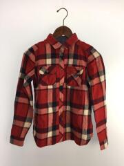 ネルシャツ/36/コットン/RED/チェック/E1M43-841-15