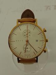 クォーツ腕時計/アナログ/--/WHT/BRW/CC-39/ベルト使用感あり