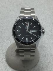 クォーツ腕時計/アナログ/ステンレス/BLK/SLV/ダイバーウォッチ/AA02-C0-B/オリエント