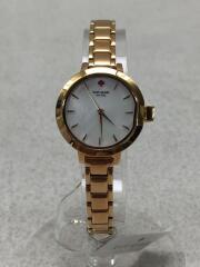 クォーツ腕時計/アナログ/WHT/GLD/KSW1363