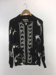 オープンカラーシャツ/S/レーヨン/BLK/191TSNH-SHM05/ALOHA.SWORDFISH/19SS