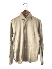 スムースジャージーワイドカラーシャツ/M/コットン/KHK/1112-343-2188