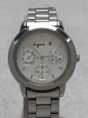 クォーツ腕時計/アナログ/ステンレス/SLV/SLV/V33J-0010/傷有
