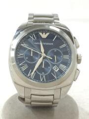 クォーツ腕時計/アナログ/ステンレス/BLU/SLV/AR-1938