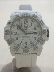クォーツ腕時計/アナログ/ラバー/WHT