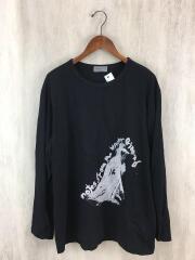 長袖Tシャツ/3/コットン/BLK