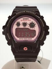 クォーツ腕時計/デジタル/ラバー/PNK/BRD