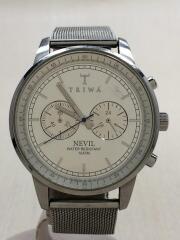 TRIWA/トリワ/クォーツ腕時計/アナログ/SLV/NEVIL/傷有