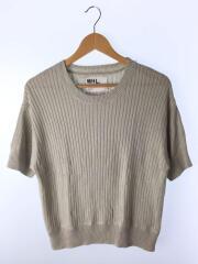 セーター(薄手)/2/コットン/GRY/595-8162500/綿51麻49/半袖ニット