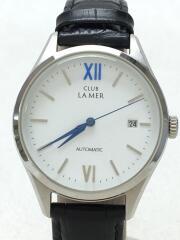 自動巻腕時計/アナログ/レザー/WHT/BLK/GN-4W-U/CLUB LA MER/箱