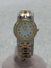 クォーツ腕時計/アナログ/ステンレス/WHT/ナクレ/CL4 220