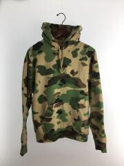 over dyed hooded sweatshirt/パーカー/S/コットン/カモフラ