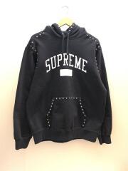 18AW/studded hooded sweatshirt/パーカー/M/コットン/BLK