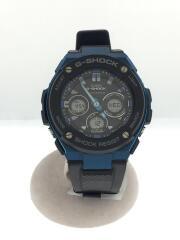ソーラー腕時計/デジアナ/ラバー/BLK/G-SHOCK  G-STEEL