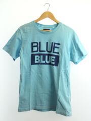 Tシャツ/L/コットン/BLU