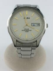v158-oaxo/ソーラー腕時計/アナログ/ステンレス/CRM/SLV