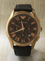 クロノグラフ/クォーツ腕時計/アナログ/レザー/BRW/BRW/AR-1701/エンポリオアルマーニ