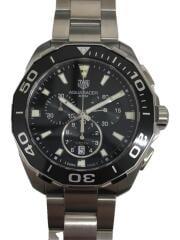 クォーツ腕時計/アナログ/ステンレス/GRY/クロノグラフ ダイバーズ AQUA RACER アクアレーサー